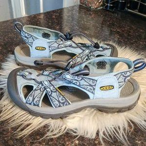 Keen sky blue waterproof sandals sz 7